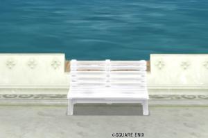 【ハウジング】庭具 > その他(庭)「ホワイトベンチ」