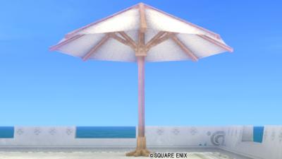 【ハウジング】庭具 > その他(庭)「白いビーチパラソル」