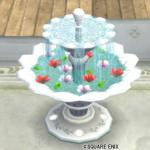 【ハウジング】庭具 > その他(庭)「お花の浮いた噴水・銀」