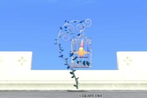 【ハウジング】庭具 > その他(庭)「鳥かごのポスト・黄」