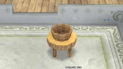 【ハウジング】庭具 > その他(庭)「丸太のテーブル」