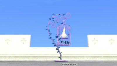 【ハウジング】庭具 > その他(庭)「鳥かごのポスト・桃」