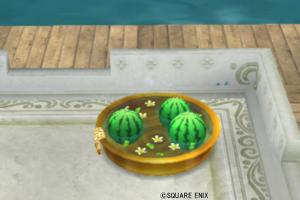 【ハウジング】庭具 > その他(庭)「スイカのタライ・金」