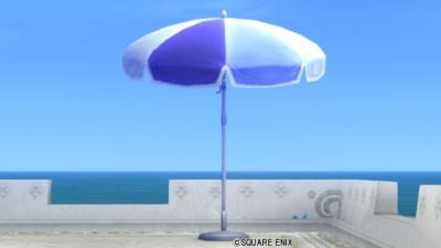 【ハウジング】庭具 > その他(庭)「青いピーチパラソル」