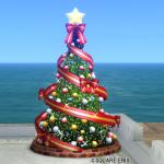 【ハウジング】庭具 > その他(庭)「クリスマスツリー赤・庭」