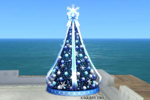 【ハウジング】庭具 > その他(庭)「クリスマスツリー青・庭」
