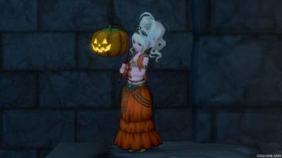 かぼちゃ姫衣装【ドラクエ10】2018年ハロウィンイベント『期間限定「スウィ~ツランド」オープン!』