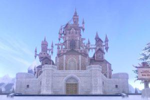 大きな古城の家
