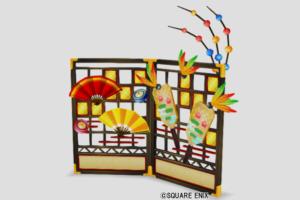 【ハウジング】家具 > かべ「お正月の屏風」