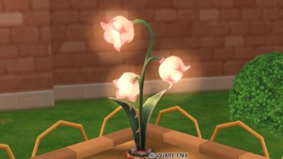 【ハウジング】庭具 > 照明・ランプ(庭)「お花の街灯・ピンク」