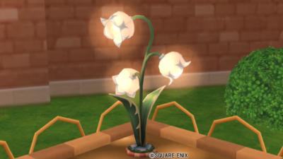 【ハウジング】庭具 > 照明・ランプ(庭)「お花の街灯・ブルー」
