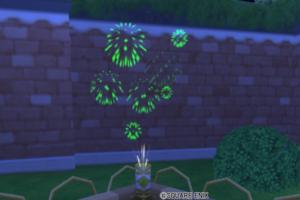 【ハウジング】庭具 > 照明・ランプ(庭)「ガーデン花火台・緑」