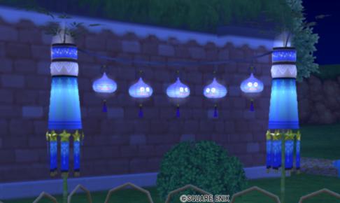 【ハウジング】庭具 > 照明・ランプ(庭)「スライム提灯」