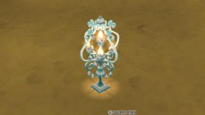 【ハウジング】庭具 > 照明・ランプ(庭)「庭置シャンデリア・青