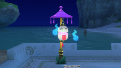 【ハウジング】庭具 > 照明・ランプ(庭)「ともしびこぞう提灯」