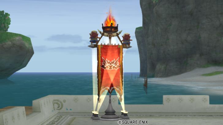 【ハウジング】庭具 > 照明・ランプ(庭)「ガートラントの紋章旗」