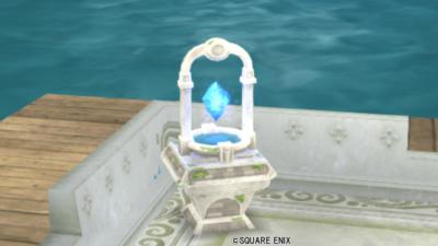 【ハウジング】庭具 > 照明・ランプ(庭)「朽ちた遺跡の結晶ライト」