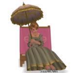 【ハウジング】庭具 > 像・人形(庭)「ピクニックマローネ」