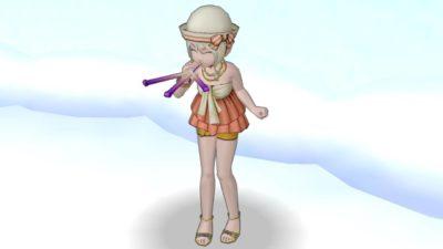 【ドラクエ10】しぐさ「ピーヒャラ笛」