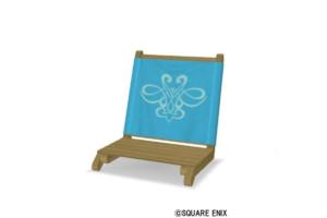 【ハウジング】庭具 > その他(庭)「木製ローチェア・水色」