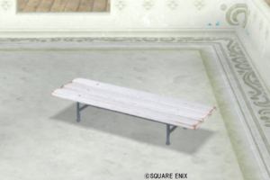 【ハウジング】庭具 > その他(庭)「庭用ベンチ風ベッド白」