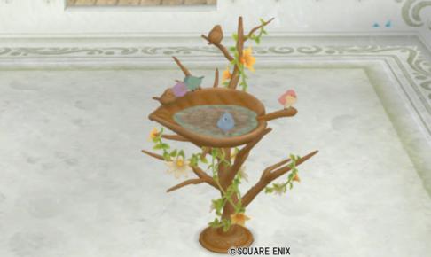 【ハウジング】庭具 > その他(庭)「小鳥のバードバス」