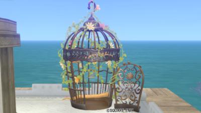 【ハウジング】庭具 > その他(庭)「小鳥のガゼボ・茶」