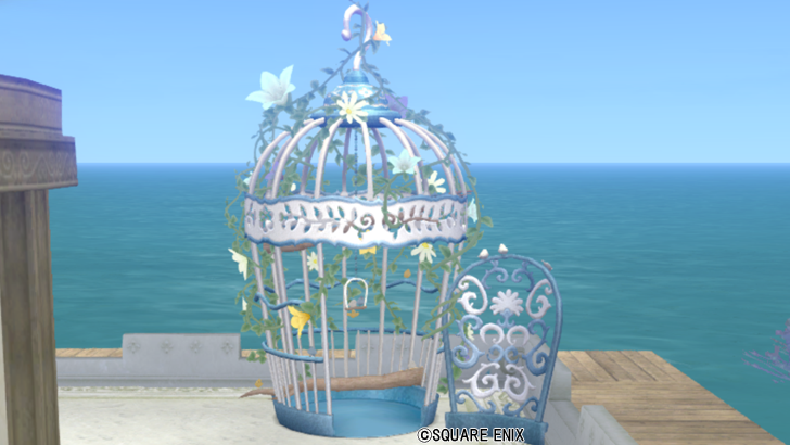 【ハウジング】庭具 > その他(庭)「小鳥のガゼボ・白」