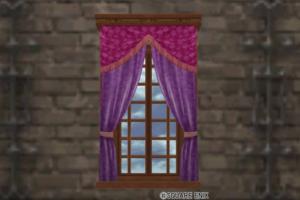【ハウジング】家具 > 壁かけ家具「壁かけのカーテンつき窓」