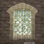 【ハウジング】家具 > 壁かけ家具「壁かけの格子窓」