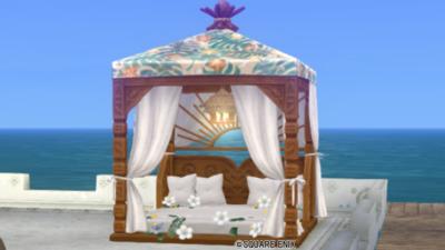 【ハウジング】庭具 > その他(庭)「お庭用天蓋付きベッド」