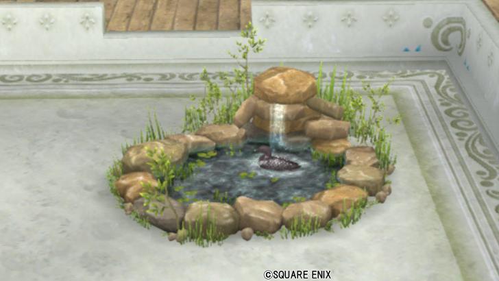 【ハウジング】庭具 > その他(庭)「水鳥のいる池・庭」
