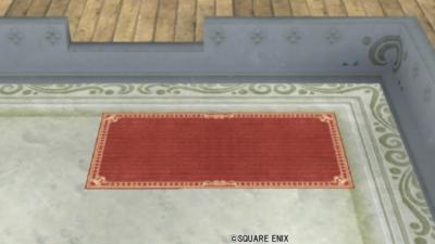 【ハウジング】庭具 > その他(庭)「お店のカーペット小・赤」