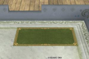 【ハウジング】庭具 > その他(庭)「お店のカーペット小・緑」