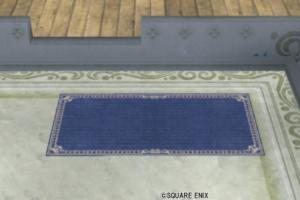 【ハウジング】庭具 > その他(庭)「お店のカーペット小・青」