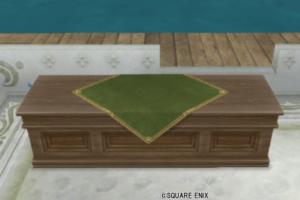【ハウジング】庭具 > その他(庭)「お店のカウンター大・緑」