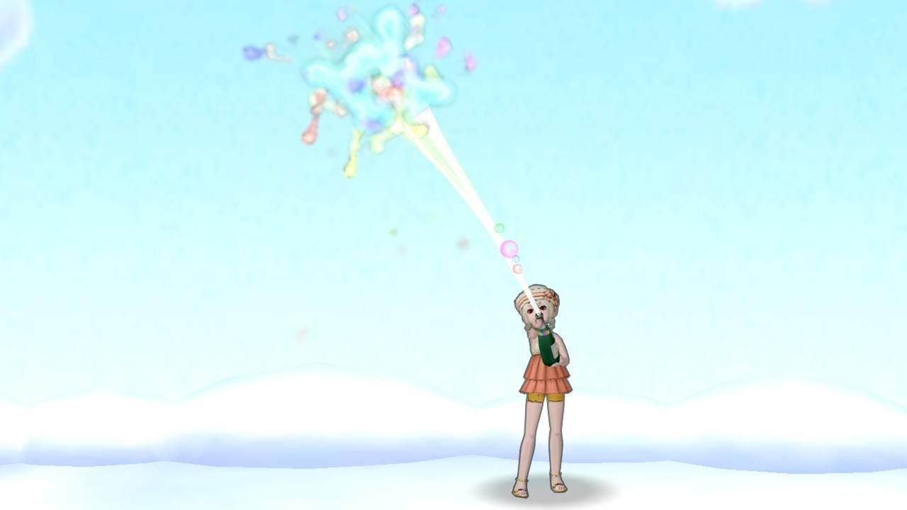 【ドラクエ10】しぐさ「お祝いシャワー虹」