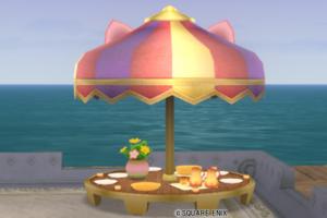 【ハウジング】庭具 > その他(庭)「アルウェーン丸テーブル」