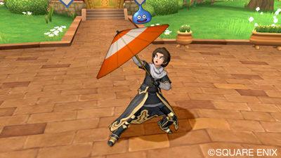 【ドラクエ10】しぐさ「傘まわし」