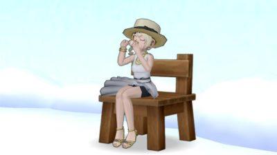 【ドラクエ10】しぐさ「お茶を飲む」