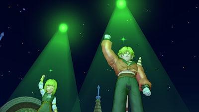 【ドラクエ10】しぐさ「ゴールデンライト緑」