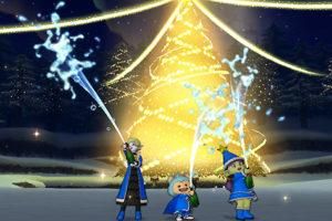 【ドラクエ10】しぐさ「お祝いシャワー青」