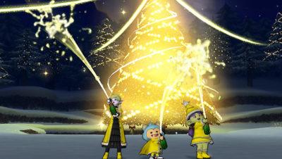 【ドラクエ10】しぐさ「お祝いシャワー黄」