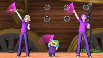 【ドラクエ10】しぐさ「ネオンライト紫」