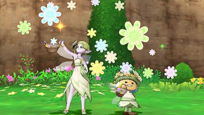 【ドラクエ10】しぐさ「花吹雪」