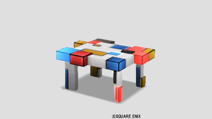 【ハウジング】家具 > つくえ「ピカピカブロックデスク」