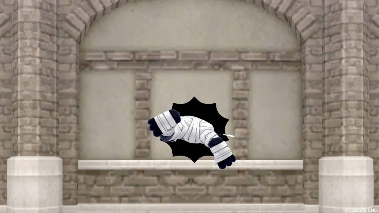 【ハウジング】家具 > 壁かけ家具「壁かけ穴ミイラ男」
