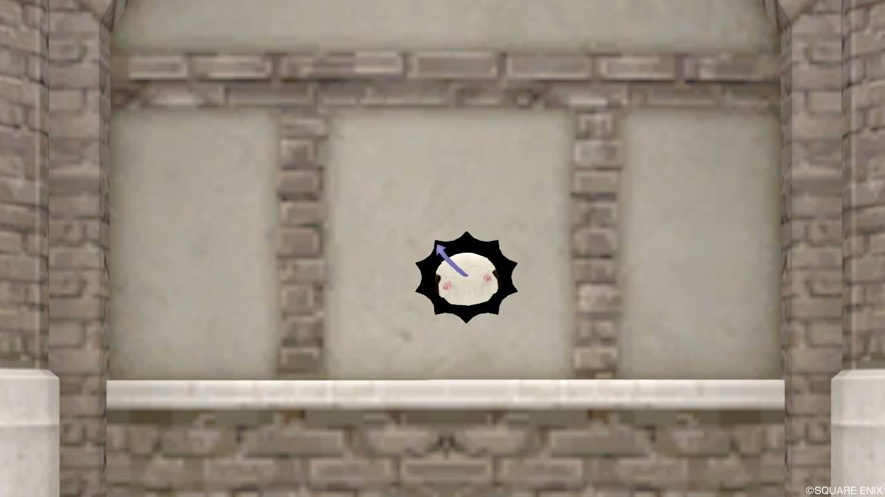 【ハウジング】家具 > 壁かけ家具「壁かけ穴モーモン」