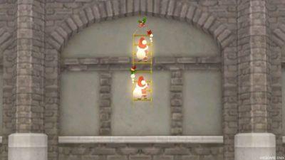 【ハウジング】家具 > 壁かけ家具「壁かけ電飾はしごサンタ」