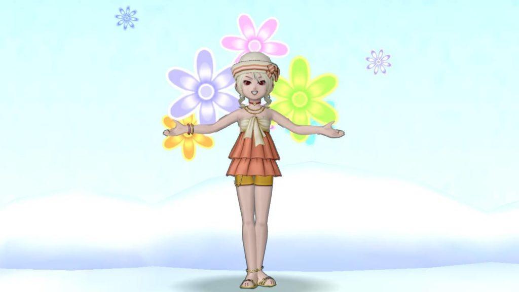 【ドラクエ10】しぐさ「花を背負う」